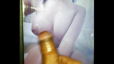 my slut jizzed with hot semen