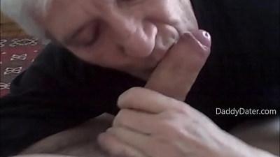 Grandpa Silverdaddy Sucking Cock
