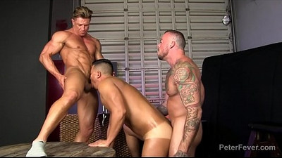 Threeway Fuckfest from THE BLACK PANDA, Ep with Asian Gay Pornstar Alex Chu