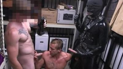 Weird gays sex movie Dungeon tormentor with a gimp