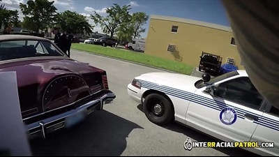 Car thief gets his asshole defenestrated by horny gay cops big cock