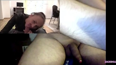 My Brunette Milf Assistant make me a Blowjob at Office POV, I Make Me a Hand Job Watching Porn.
