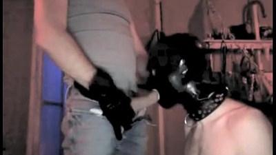 Master feeding his slave boy