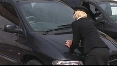 British Threesome In A Car Park