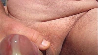 yrold Grandpa uncut shaved cumming upclose