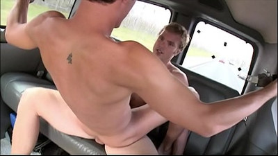 BAIT BUS Ashton Thompson Shocks Bobby Rail By Sucking His Bait Dick