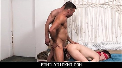 Twink Step Son Blindfolded Step Dad And His Hunk Best Friend Take Turns Threesome