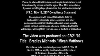 Bradley Michaels and Micah Matthews fuck her hard