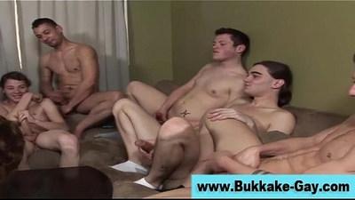 Gay bukkake ass fuck and hot cum facial