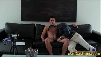Sexy stud Mike sucks jizzster and gets gay porno