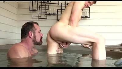 Suju Daddy and I in the pool